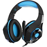 TeckNet Gaming Headset 3.5mm Stereo Sound Over-Ear Headphones With Noise Cancelling Mic for PC, Xbox One, PS4, Mac, Laptop, Mobile Phones