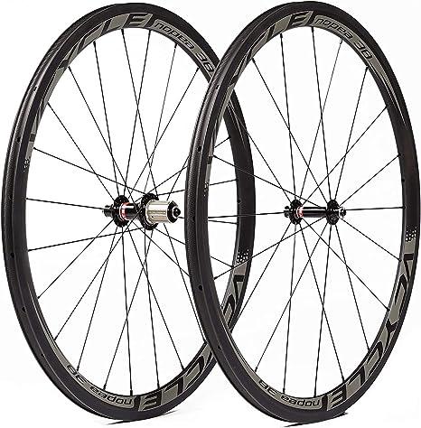 VCYCLE 700C Carbono Bicicleta Ruedas 38mm Tubular UD Mate Ultra Ligero Shimano o Sram 8/9/10/11 Velocidades: Amazon.es: Deportes y aire libre