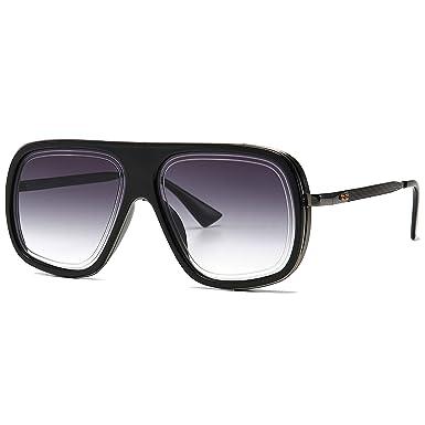 SHEEN KELLY Grande Pilot Retro Sunglasses Gold Black Mens Marco Cuadrado Plaza Gafas De Sol Gafas Deportivas Audaz Piloto Lujo Degradado Lente ...