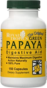 Royal Tropics Green Papaya Digestive Enzymes 150 CAPS