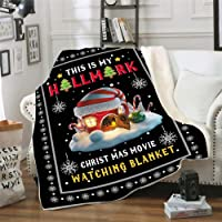 This is My Christmas Movie Watching Blanket Quilts, Soft Cozy Warm Plush Throws for Adults Kids 59in x 79in