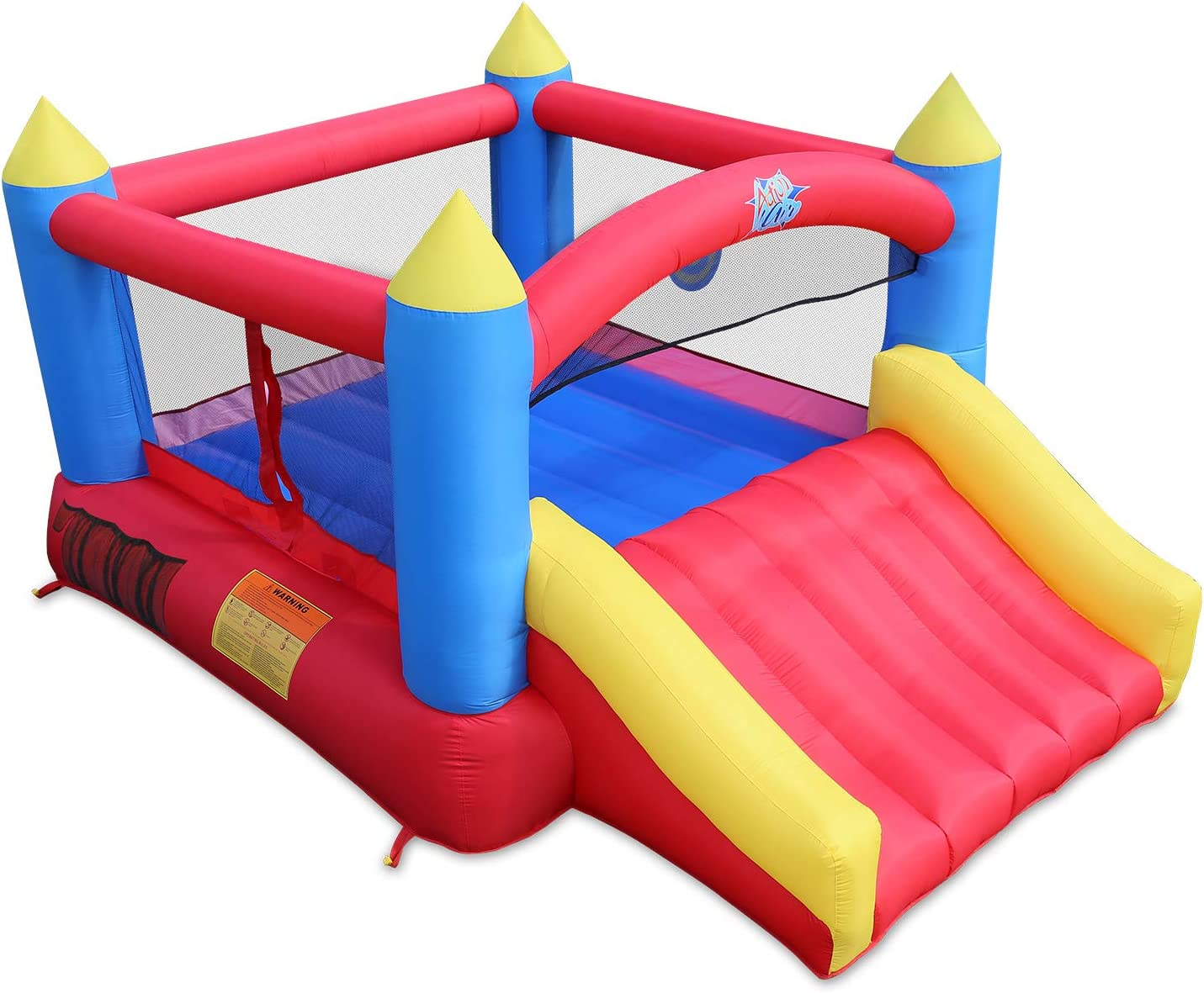 Amazon.com: ACTION AIR [Updated Version Bounce House, Inflatable Bouncer  with Air Blower, Jumping Castle with Slide, Family Backyard Bouncy Castle,  Durable Sewn with Extra Thick Material, Idea for Kids(C-9745): Toys & Games