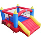 ACTION AIR [Updated Version Bounce House, Inflatable Bouncer with Air Blower, Jumping Castle with Slide, Family Backyard…