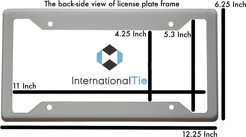 International Tie Arizona State Flag 304 Stainless Steel License Plate Flag