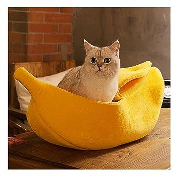 Amazon.com: worderful mascota perro gato plátano cama casa ...