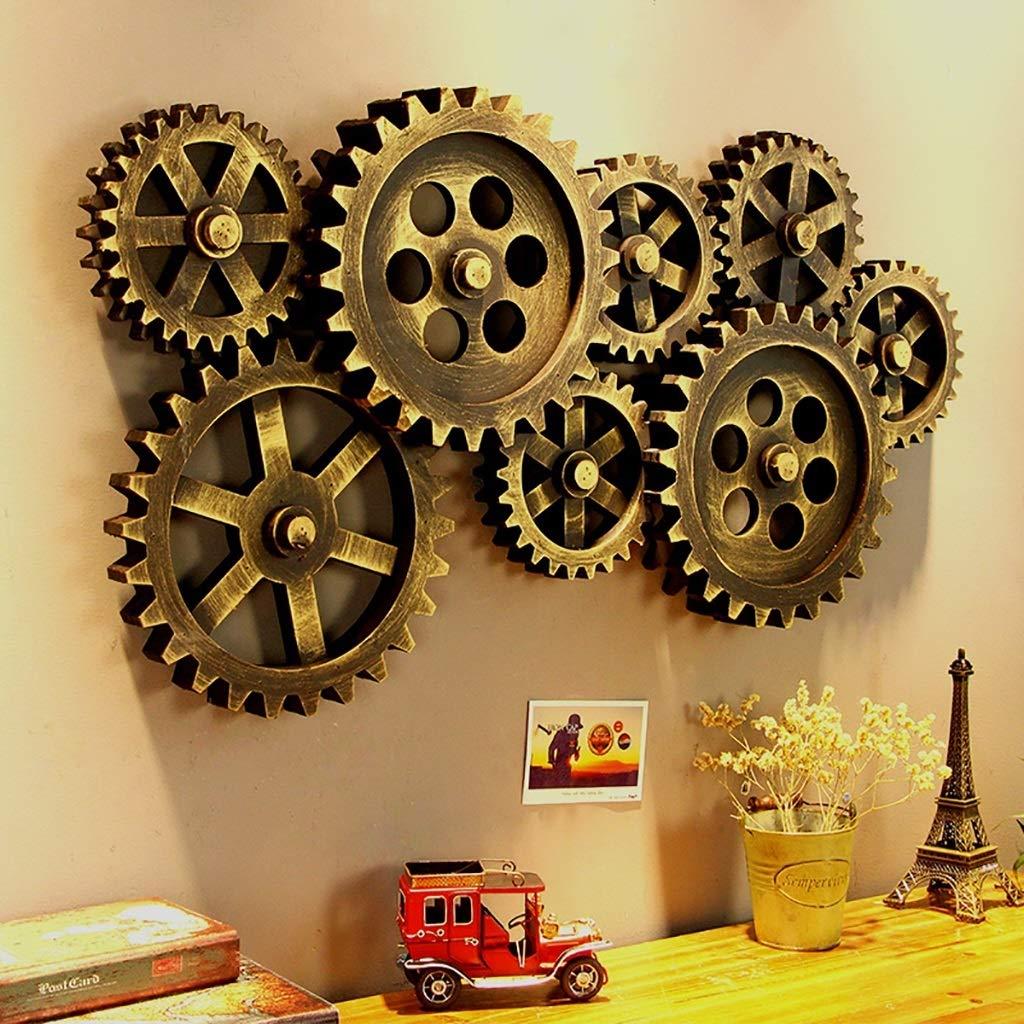 D/écoration de mur engrenage MDF cr/éatif Style industriel Loft Bar Restaurant Vintage D/écoration murale
