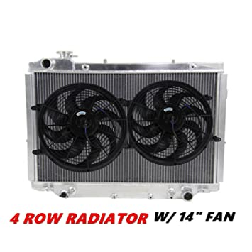 Primecooling 4 Row Aluminum Radiator w/ Cooling Fan (14 Inches Dia