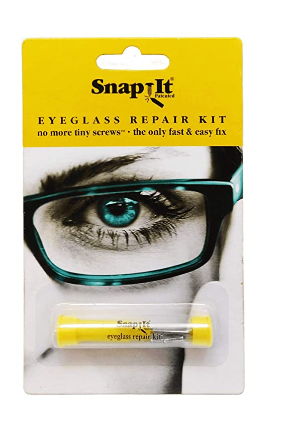 Snapit EyeGlass Repair Kit, With Long Easy Fit Screws And Micro Screwdriver. Perfect For Fixing Sunglasses, Spectacles, Glasses And Reading Glasses. Used By Opticians.