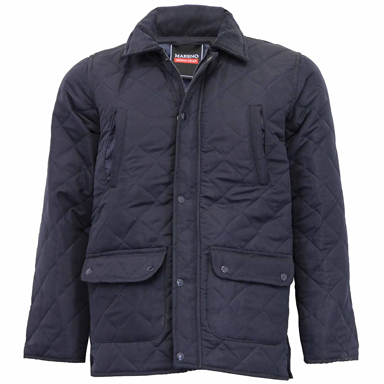 Mareno Mens Padded Diamond Quilted Jacket MARQUILT at Amazon Mens Clothing store: