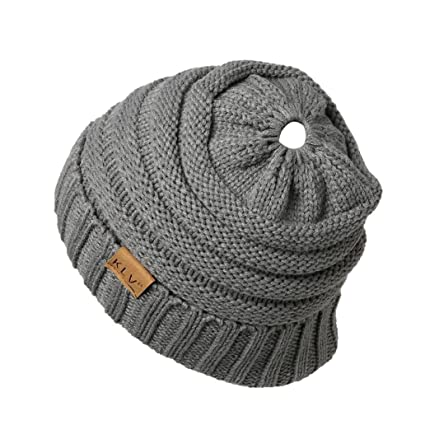 25130ade1df Amazon.com   🍎PIKAqiu33🍎 Children Baggy Warm Crochet Winter Wool Knit Ski  Beanie Skull Slouchy Hat (Gray)   Garden   Outdoor