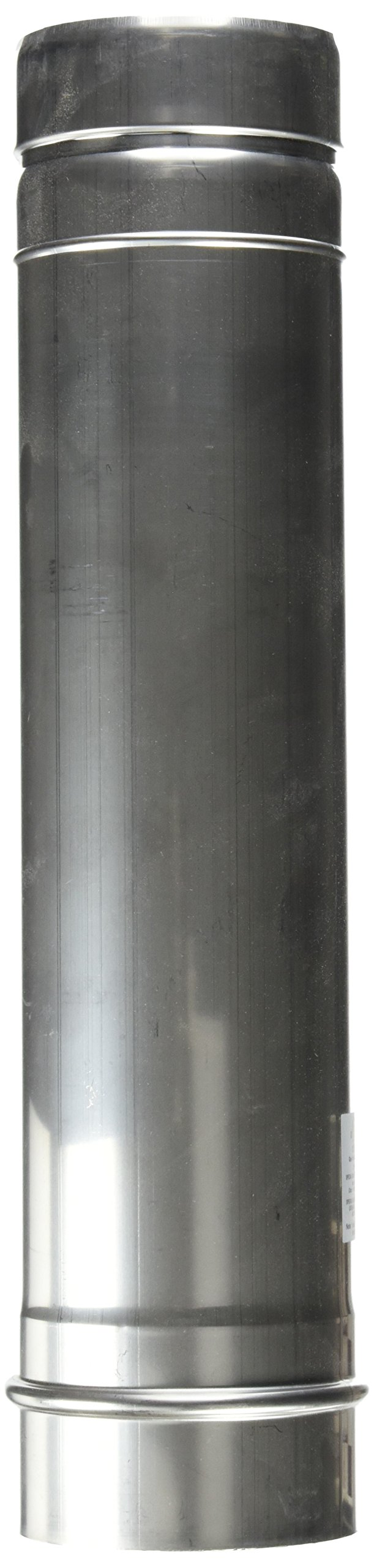 Noritz VP3-12STRAIGHT 3-Inch Diameter by 12-Inch Straight Stainless Steel Single Wall Venting