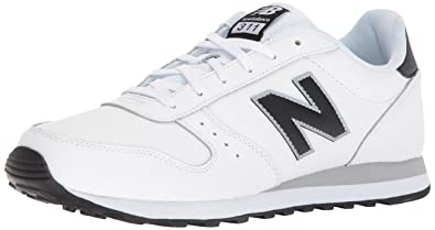 18144599b31c4 New Balance Men's 311 Lifestyle Fashion Sneaker, White/Black, ...