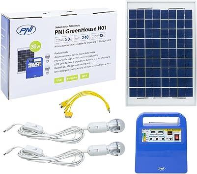 PNI Panel Solar, Sistema de energía Solar portátil, generador ...