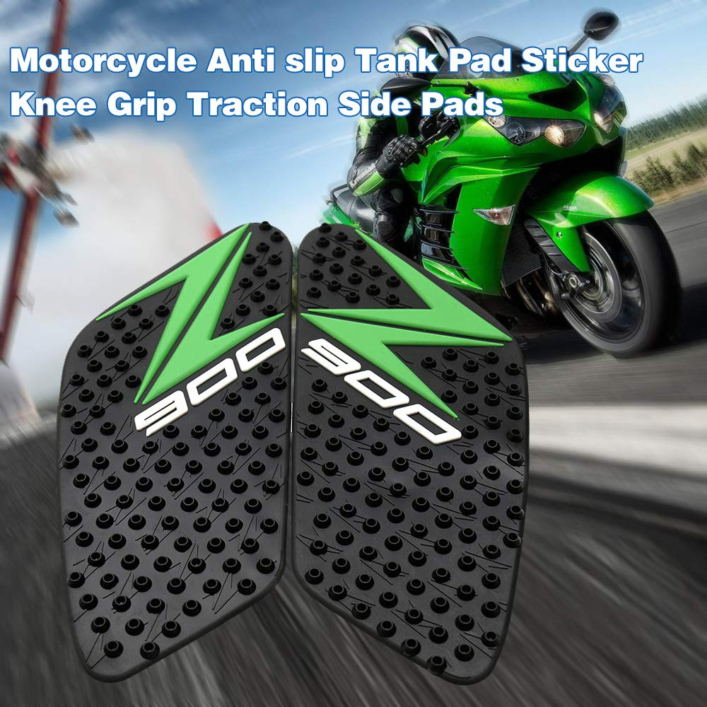 Style A KKmoon Motorcycle Anti slip Tank Pad Decal Protector Sticker Knee Grip Traction Side Pads fit For kawasaki Z900 2017