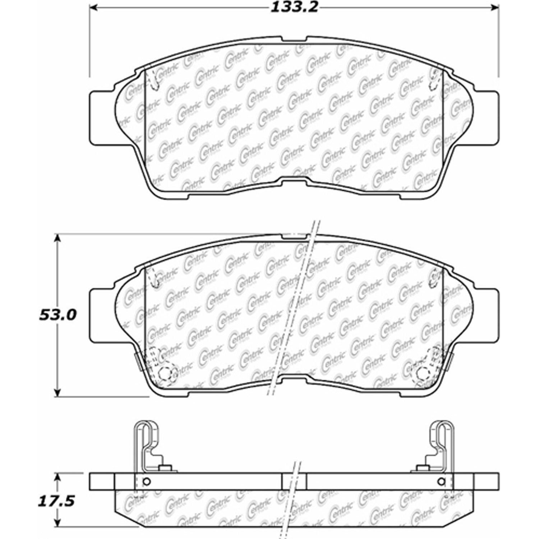 Ceramic StopTech 105.05621 Brake Pad