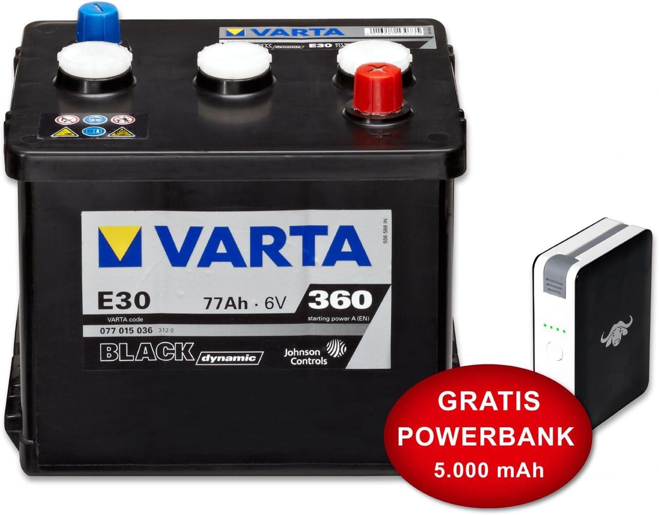: Varta Black Dynamic e30 W – 6 V77 Ah – 360 Aen