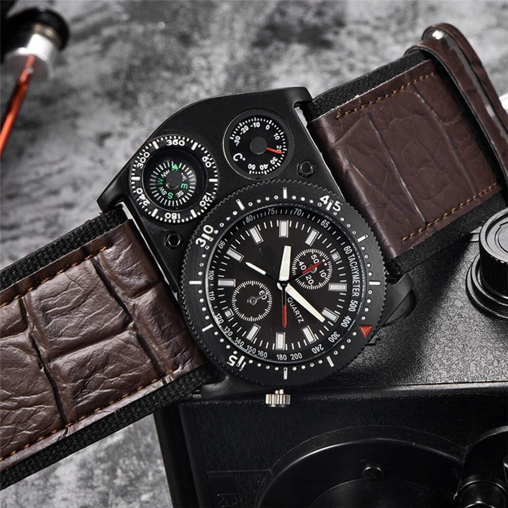 Liandd Orologio da Polso con termometro Decorativo Orologio da Uomo Sport Orologio da Polso da Uomo Black