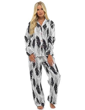 af53793cd0adb5 CityComfort Damen Comfy Pyjamas Damen Soft Fleece Loungewear | Bestickt mit  Langarmshirt Frauen: Amazon.de: Bekleidung