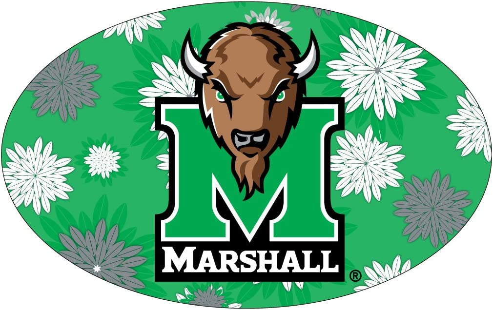 MARSHALL THUNDERING HERD OVAL FLORAL DESIGN MAGNET-MARSHALL UNIVERSITY MAGNET-NEW FOR 2016