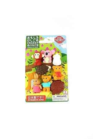 Iwako japonesa de colección Borradores Kawaii Animales Set