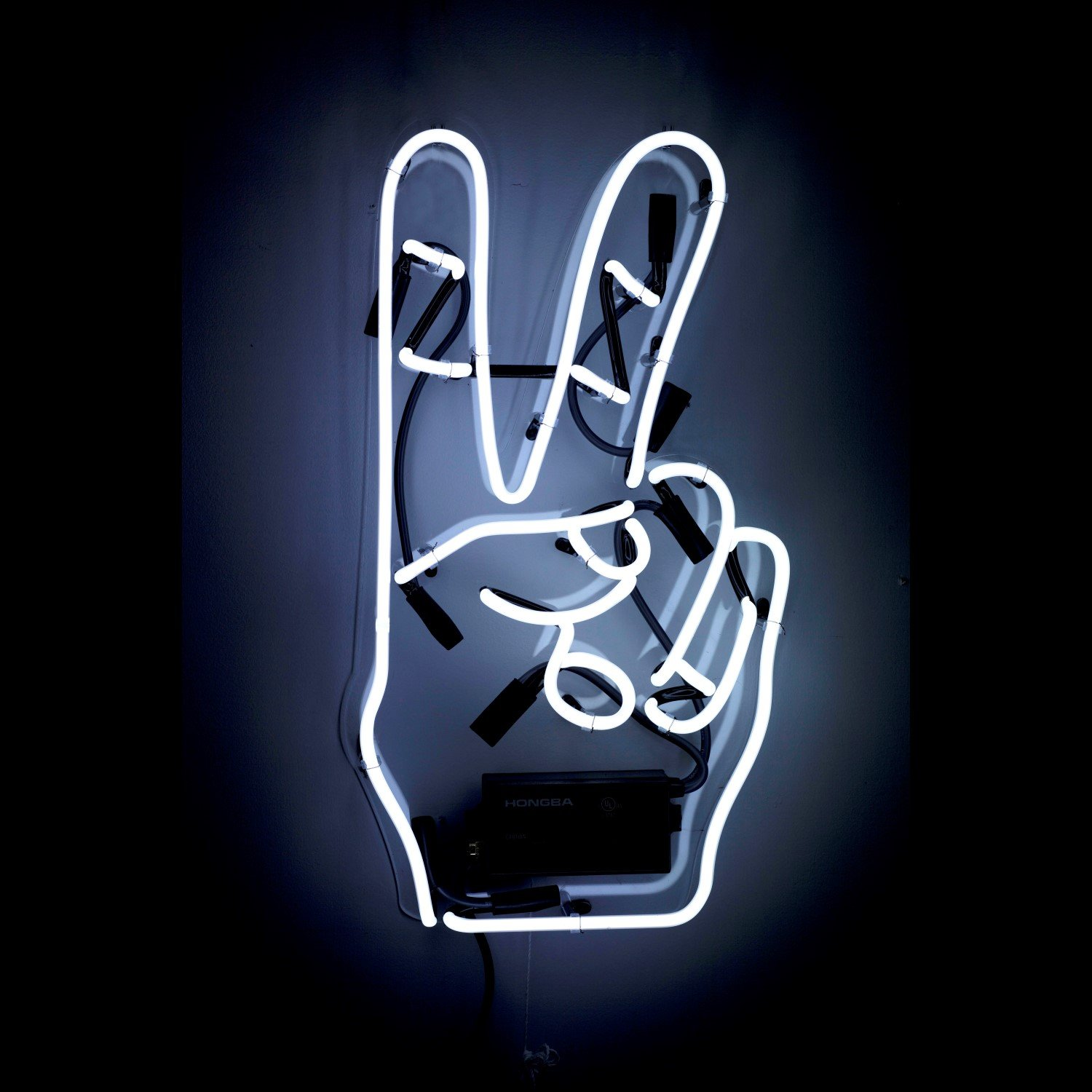The Oliver Gal Artist Co. Olivergal 'Peace' Neon Sign, 12.0x22.0x6.0, White
