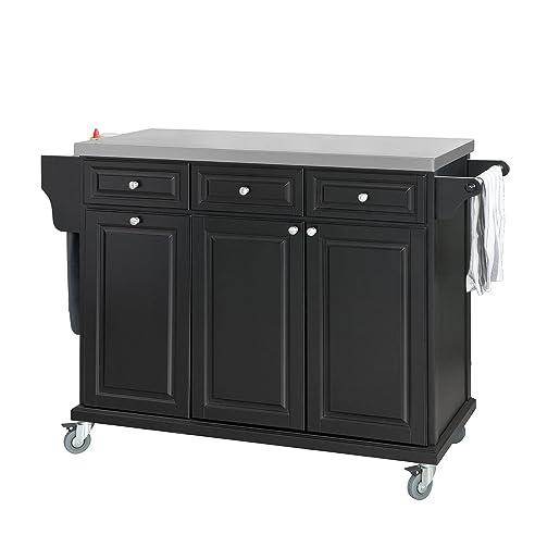 Sobuy® Fkw33-Sch Neu Luxus-Küchenwagen Mit Edelstahlplatte