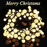 Catena Catena di luci led 2.5m luce bianco caldo Splendida con 8modalità a bassa tensione di sicurezza adatto per interno e all' aperto Garden Commercial decorazione luci per festa Natale hochzei