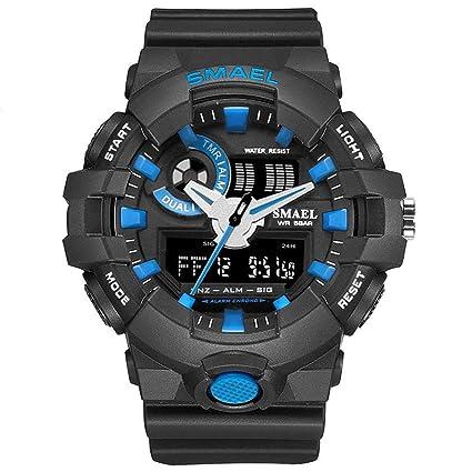 Blisfille Relojes Raros Correa Reloj 22Mm Relojes Digitales En Acero Reloj Digital y Analogico Reloj Hombre