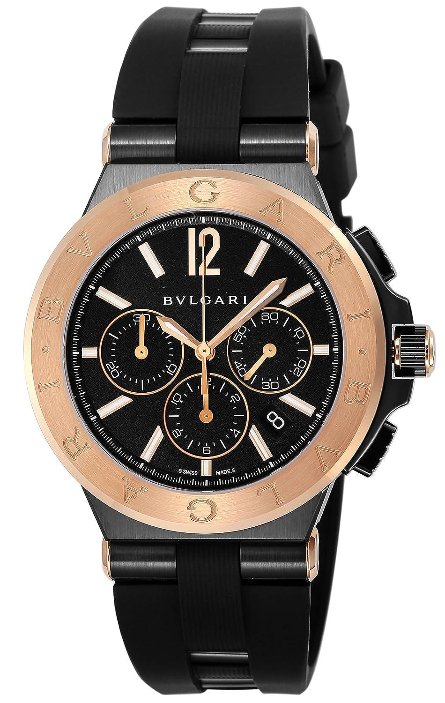 [ブルガリ]BVLGARI 腕時計 ディアゴノ ブラック文字盤 DG42BBSPGVDCH メンズ 【並行輸入品】 B078YGDG99