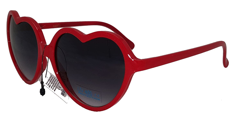 f3b48b840a7 Amazon.com  Heart Shaped Red Sunglasses  Clothing