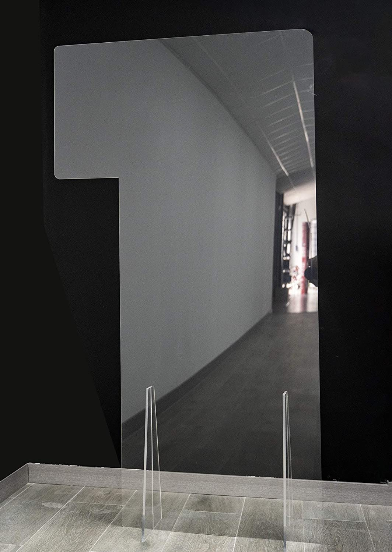 Mampara de Protección | Material Policarbonato | Transparente | Modelo Liverpool 2 | Indicado para Puestos de Trabajo en Industrias | Incorpora Solapa | Automontable | 5 mm de Grosor | 110 x 75 cm: Amazon.es: Oficina y papelería