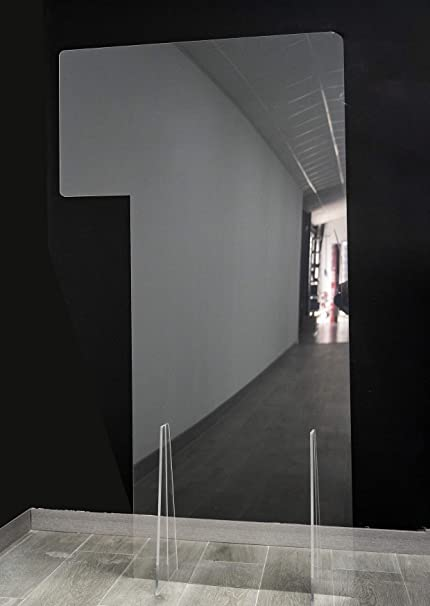 GRUPO ZONA | Mampara de Protección | Material Policarbonato Celular | Transparente | Modelo Liverpool 2 | Separación de Puestos de Trabajo y Exteriores | Automontable | 4 mm de Grosor | 70 x 175 cm: Amazon.es: Oficina y papelería