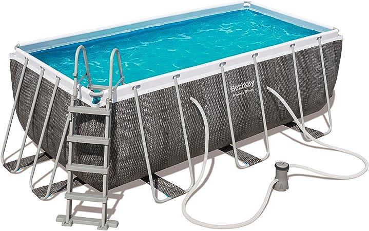 BESTWAY 56709 - Piscina Desmontable Tubular Steel Pro Max Diseño Rattan 366x100 cm Depuradora de cartucho de 2.006 litros/hora: Amazon.es: Jardín
