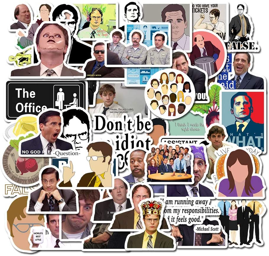 The Office Stickers Pack of 50 Stickers - The Office Stickers for Laptops, The Office Laptop Stickers, Funny Stickers for Laptops, Computers, Hydro Flasks (The Office-C)