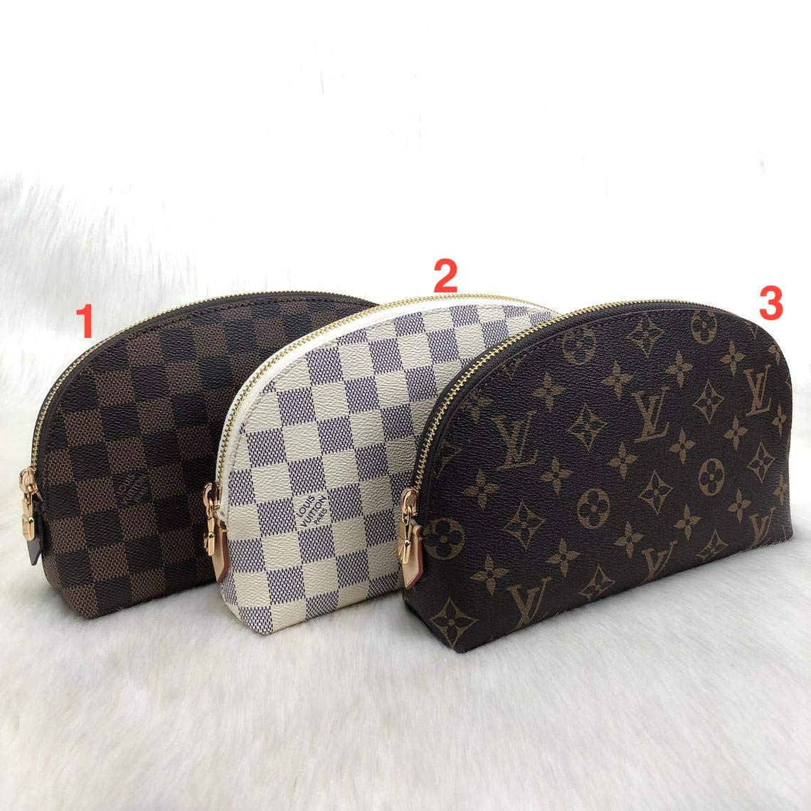 c672022748ac Amazon.com: Louis Vuitton Leather Cosmetic Bag HandMade by ...