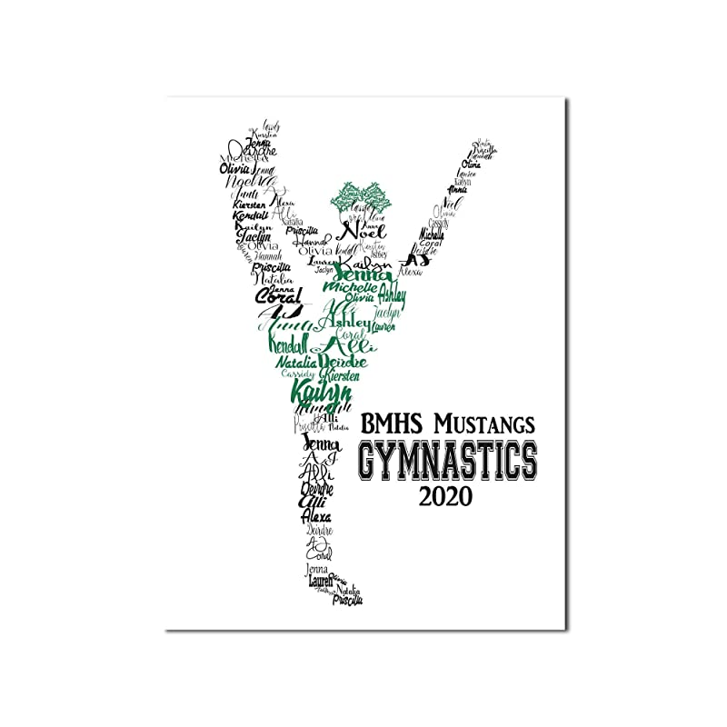 Set of 50100150200 Personalized Gymnastics  1 Inch Confetti Circles