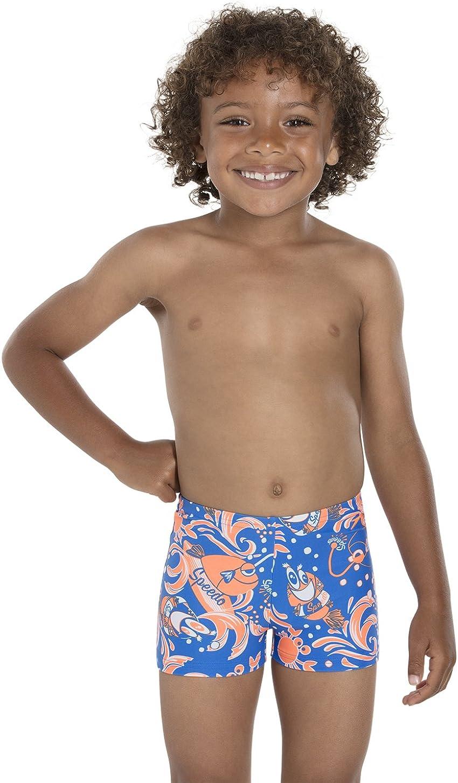Speedo Boys Solarpop Essential All-Over Aqua Shorts