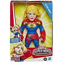 Playskool Heroes Mega Mighties Marvel Super Hero Adventures Captain Marvel samlarfigur 25 cm actionfigur leksak för barn…