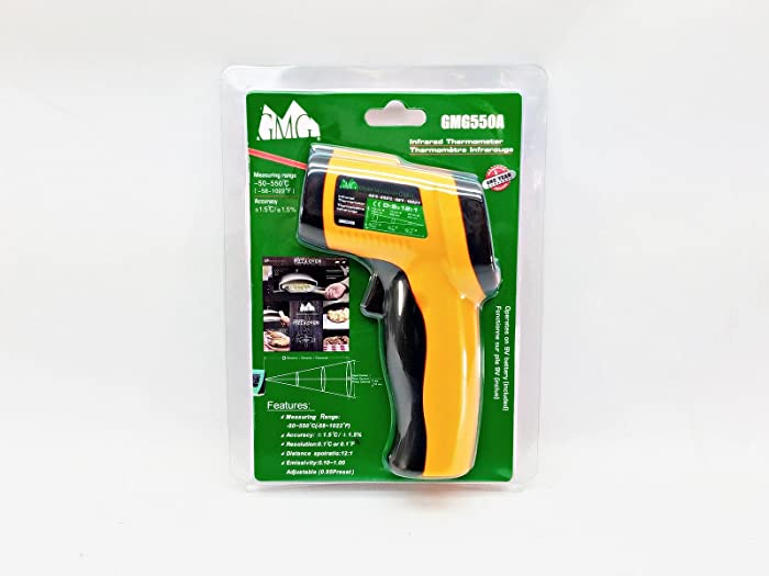 Green Mountain Grill Infrared Digital Read Temperature Gun for Pizza Oven GMG