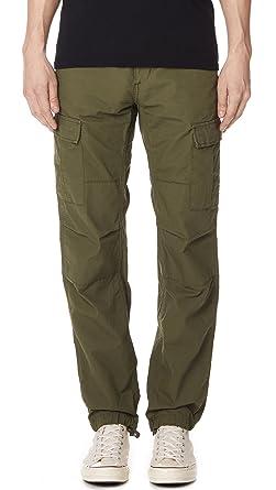 store buying new cheap price Carhartt WIP Men's Aviation Slim Fit Cargos, Green, 36W x ...