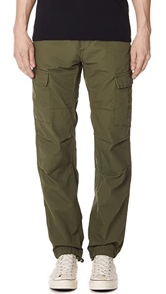 34f942065d Carhartt WIP Men's Aviation Cargo Pants, Rover Green, 31X32: Amazon ...