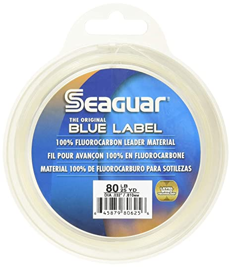 Seaguar Blue Label 25 Yards Fluorocarbon Leader Fishing Fishing Line at amazon