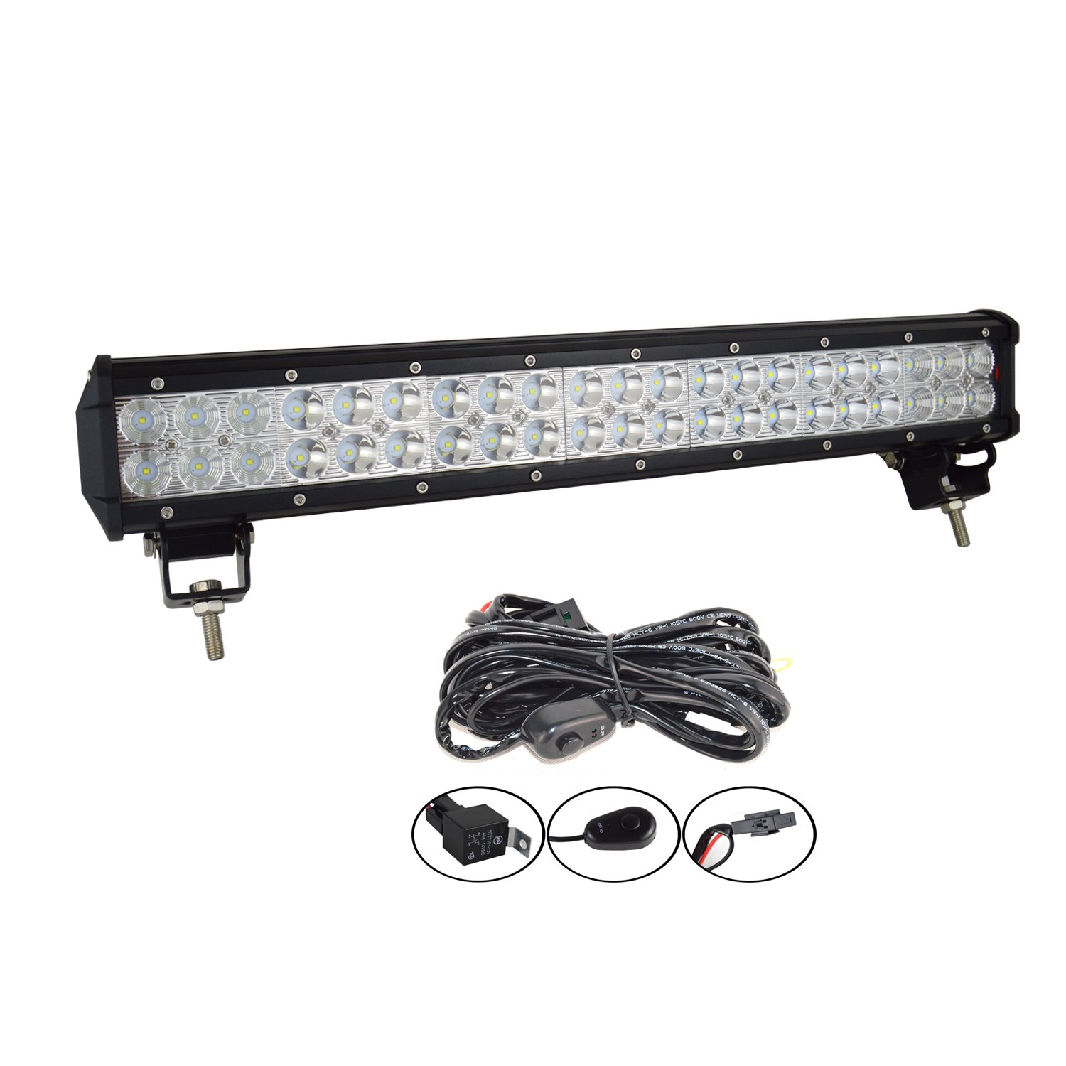 AUXTINGS 32 inch 180W Led Light Bar Spot Flood Combo Beam Offroad LED Work Light With Wiring Harness Kit for Off-road Vehicles 4x4 Atvs Utvs