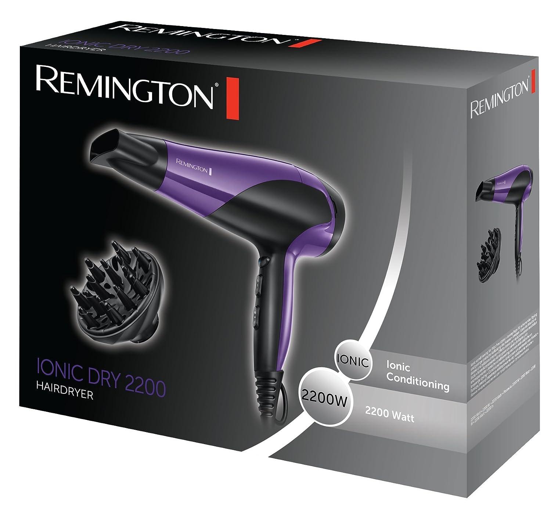 Remington D3190 - Secador de pelo iónico, 2200 W, acondicionado iónico, color morado: Amazon.es: Salud y cuidado personal