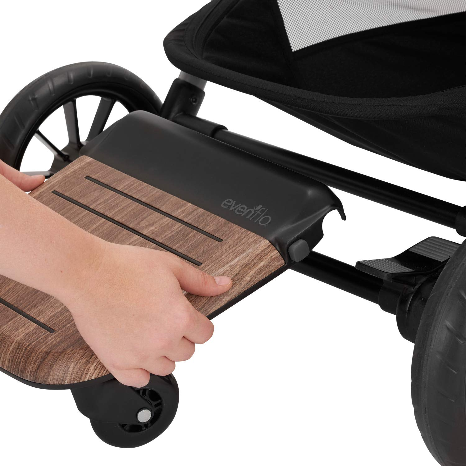 Evenflo Stroller Rider Board, Convenient Riding Options, Non-Skid Surface, Smooth-Ride Wheels, Easy to Use, Holds up to 50 Pounds, No Additional Parts Needed by Evenflo (Image #2)
