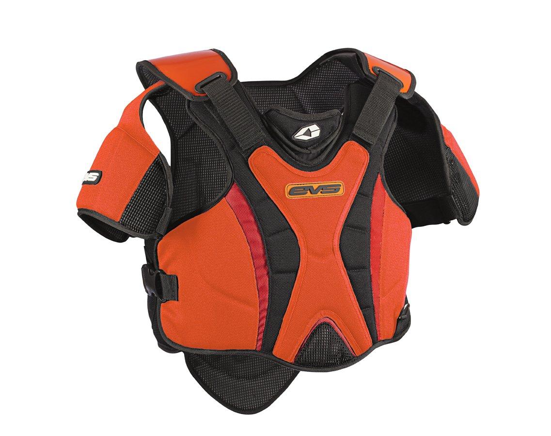 EVS Sports SV1R Race Model Snowmobile Vest (Black/Orange, X-Small/Small)