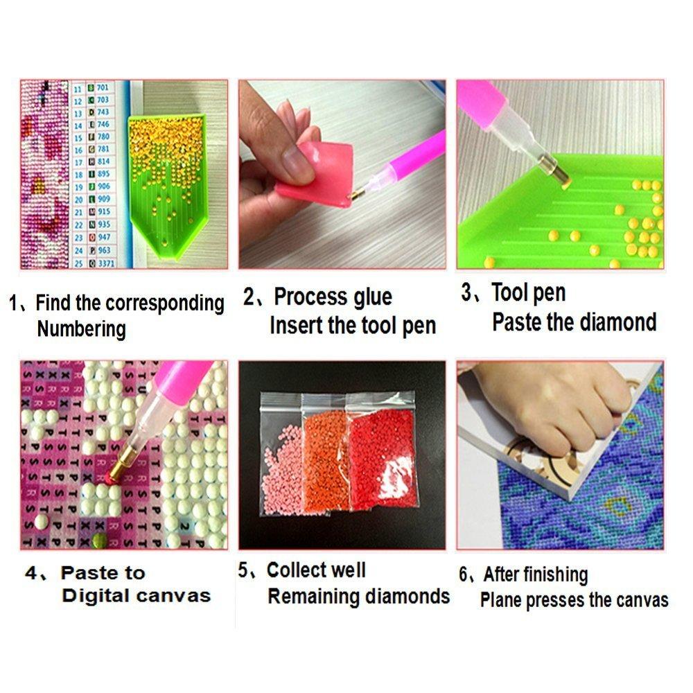Fipart 5D fai da te diamante Pittura modalit/à creativa di cristallo Color Cube diamante ricamo decorazione della 12X16inch//30X40CM ,stella di mare