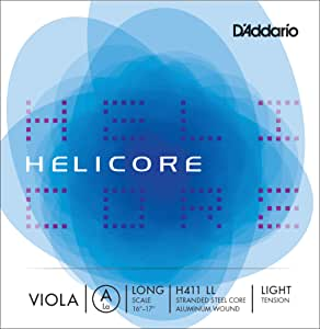 D'Addario Helicore Viola Single A String, Long Scale, Light Tension
