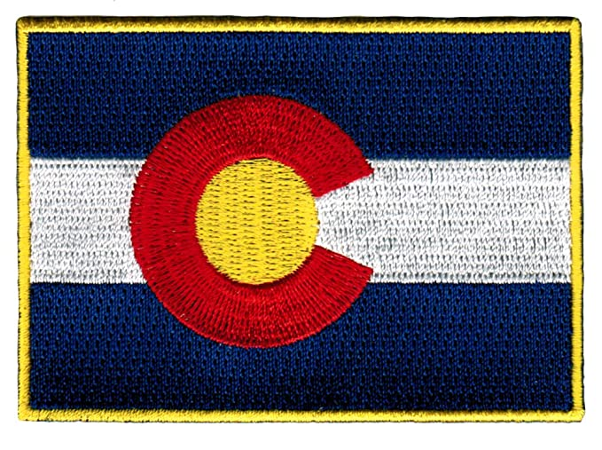 Amazon Colorado State Flag Embroidered Patch Iron On Co Emblem