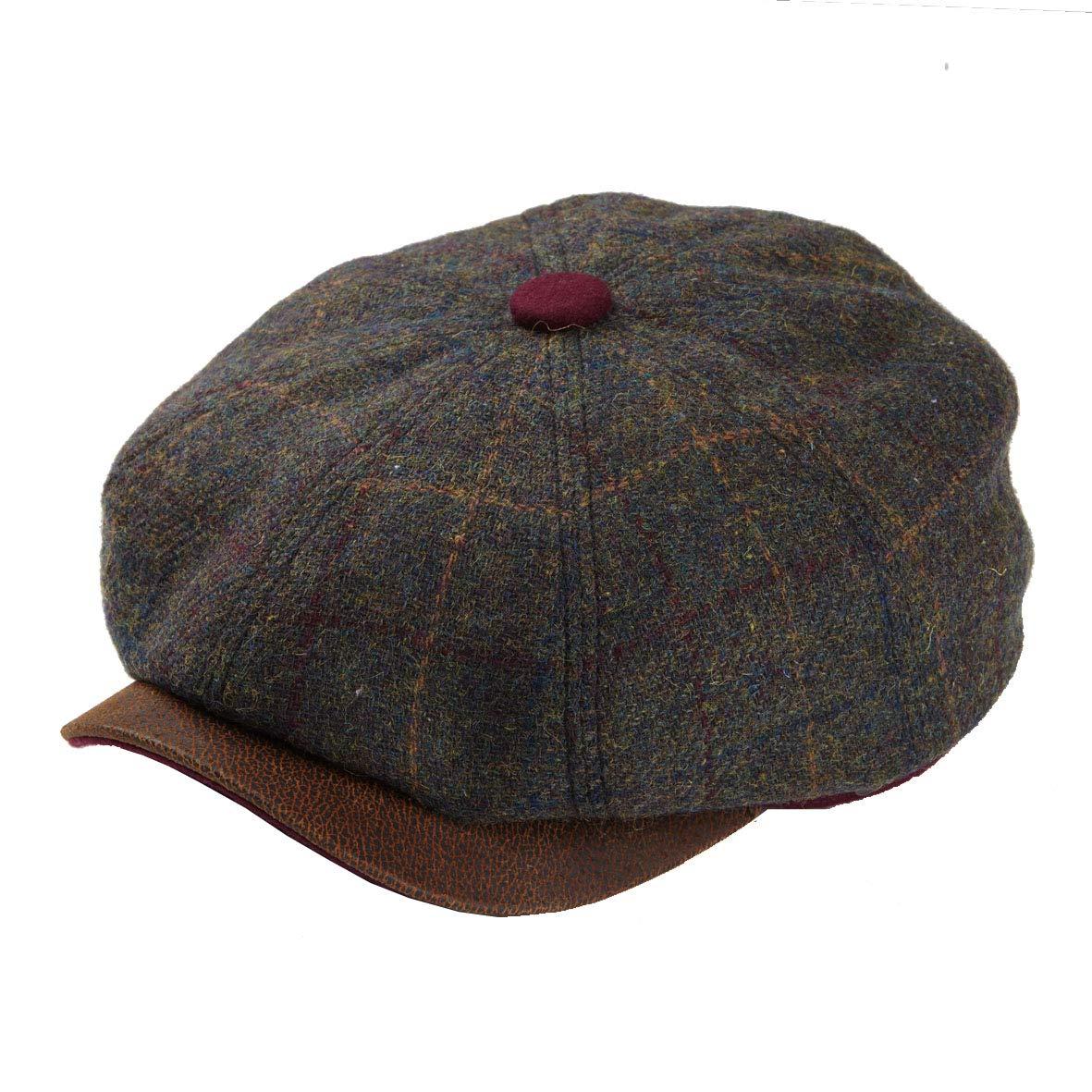 Dasmarca Mens Newspaper Boy Bakerboy Tweed Wool Cap